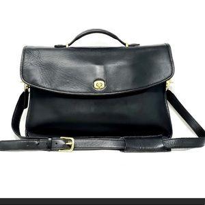 Coach Lexington Leather BriefCase Black Laptop Bag